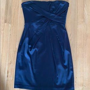 BCBG cocktail blue strapless dress